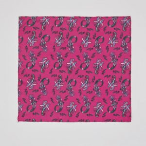 Pocket square Pushkina Magenta EE014PS/006 by English Eccentrics