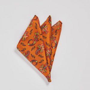 Pocket square Pushkina Orange EE014PS/005 by English Eccentrics