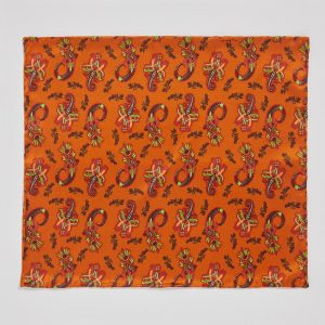 Pocket square Pushkina Orange EE014PS/005 by English Eccentrics