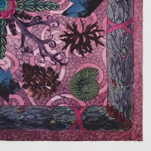 Silk square scarf Gaia Fuchsia EE003S/012 by English Eccentrics