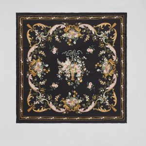 Silk square scarf Tapestry Black EE015S/009 by English Eccentrics
