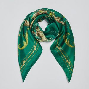 Silk square scarf Tapestry Green EE015S/008 by English Eccentrics