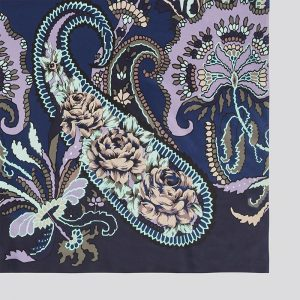 Silk scarf Pushkin Navy EE001S/002 by English Eccentrics