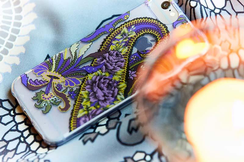 English Eccentrics mobile phone case in Pushkin paisley