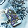 iPhone 7/8 Clear Mobile Case Pushkin Aubergine EE013PC/001 by English Eccentrics