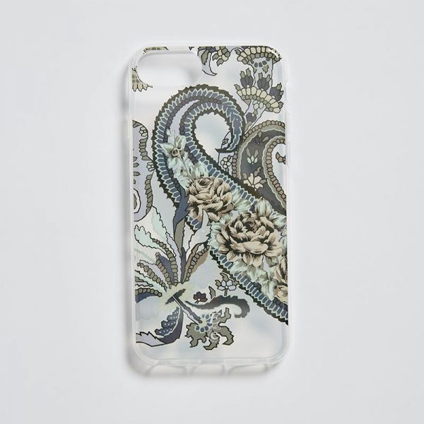 iPhone 7/8 Clear Mobile Case Pushkin Navy EE013PC/002 by English Eccentrics