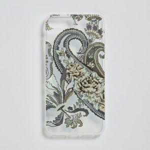 iPhone 7/8+ Clear Mobile Case Pushkin Navy EE018PC/002 by English Eccentrics