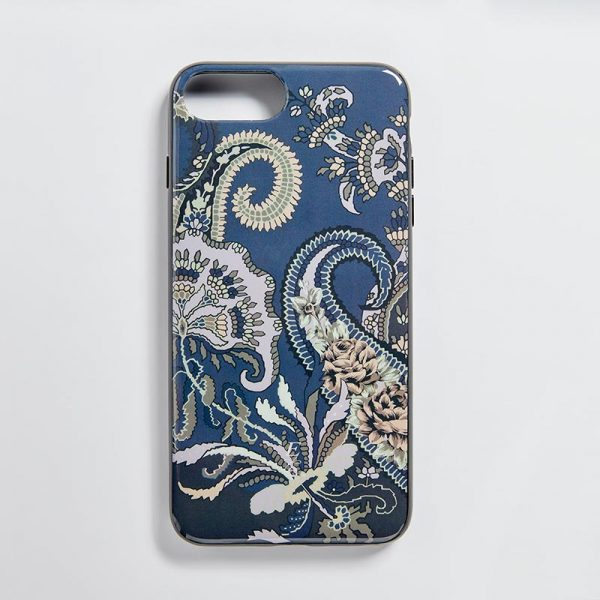 iPhone 7/8 Glossy Mobile Case Pushkin Navy EE016PC/002 by English Eccentrics