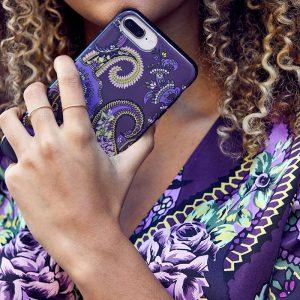 iPhone 7/8+ Matt Mobile Case Pushkin Aubergine EE020PC/001 by English Eccentrics