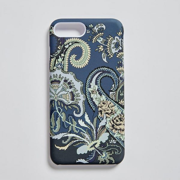 iPhone 7/8+ Matt Mobile Case Pushkin Navy EE020PC/002 by English Eccentrics